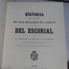 Second hand books: HISTORIA DEL MONASTERIO DEL ESCORIAL. ANTONIO ROTONDO. EDICION FASCIMIL. Lote 58711644