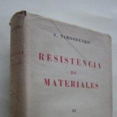Libros de segunda mano - RESISTENCIA DE MATERIALES - S. TIMOSHENKO - 108296126