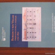 Libros de segunda mano: BURGOS Y SUS VILLAS ARQUITECTURA Y PAISAJE 1750 – 1800. Lote 60187379