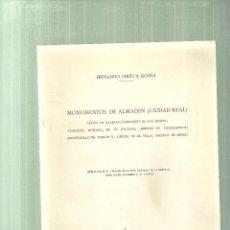 Libros de segunda mano: 1581.-MONUMENTOS DE ALMADEN ( CIUDAD REAL )-FERNANDO CHUECA GOITIA. Lote 61750772