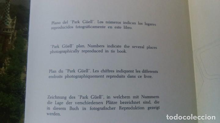 Libros de segunda mano: Muy raro libro de Park guell gaudi ediciones polígrafa 2 edición año 1971 con fotografías miren foto - Foto 3 - 64378555