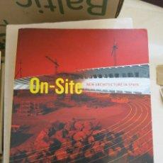 Libros de segunda mano: ARQUITECTURA ON SITE ON-SITE NEW ARCHITECTURE IN SPAIN. Lote 65782342
