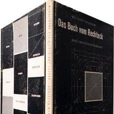 Libros de segunda mano: W. VON WERSIN : DAS BUCH VOM RECHTECK. GESETZ UND GESTIK DES RÄUMLICHEN. (1ª ED, 1956 . Lote 66891330