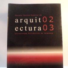 Libros de segunda mano: ESCUELA TÉCNICA SUPERIOR DE ARQUITECTURA 02-03. UNIV POLITÉCNICA VALENCIA 2002. ISBN 846009801X. Lote 69398865