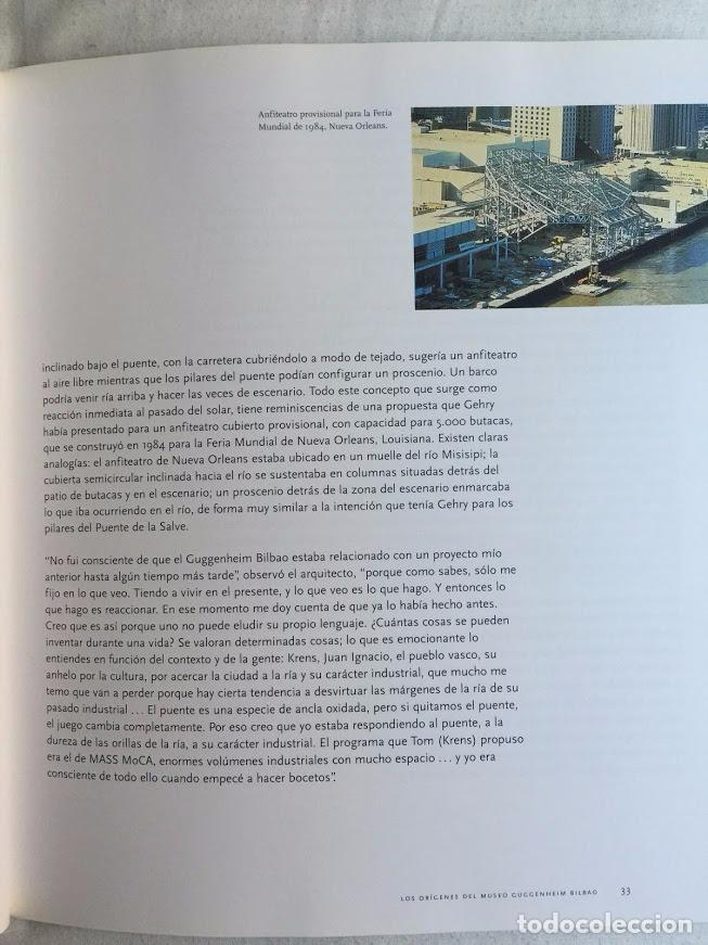Libros de segunda mano: FRANK O. GEHRY, EL MUSEO GUGGENHEIM BILBAO - VAN BRUGGEN - Foto 4 - 72247323