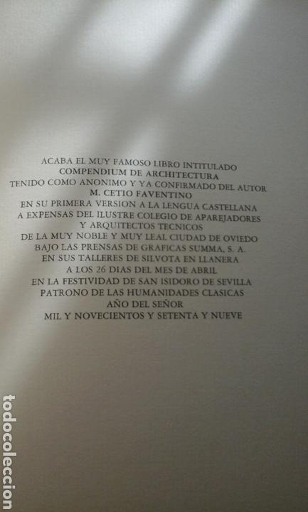 Libros de segunda mano: Compendio de arquitectura.1979.M.cetio Faventino - Foto 6 - 74957370