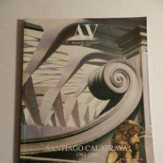 Libros de segunda mano: AV MONOGRAFÍAS 61 SANTIAGO CALATRAVA 1983-1996 IX-X 1996 ARQUITECTURA DESCATALOGADA. Lote 295621703