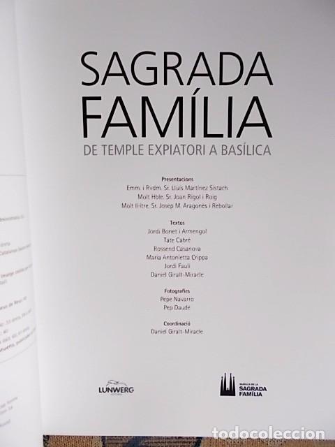 Libros de segunda mano: SAGRADA FAMILIA - 1882-2010 - EDICIÓ LIMITADA Nº A2.214 - Foto 5 - 77431425