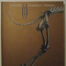 Libros de segunda mano: QUADERNS D'ARQUITECTURA I URBANISME. COLEGIO DE ARQUITECTOS DE CATALUÑA. Nº171, OCT-DIC 1986.. Lote 78396805