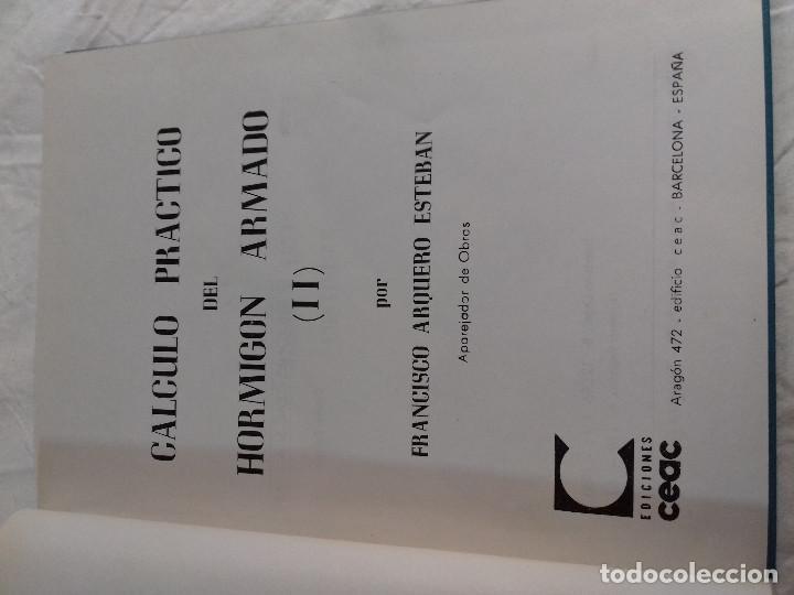 Libros de segunda mano: CALCULO PRACTICO DEL HORMIGON ARMADO (Ii)-FRANCISCO ARQUERO ESTEBAN-Nº 20-MONOGRAFIAS CEAC-1963 - Foto 2 - 78522789