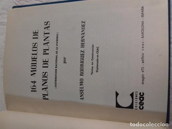 Libros de segunda mano: 164 MODELOS DE PLANOS DE PLANTAS-DISTRIBUCION RACIONAL DE LA VIVIENDA-Nº 21-MONOGRAFIAS CEAC-1963 - Foto 2 - 78523281