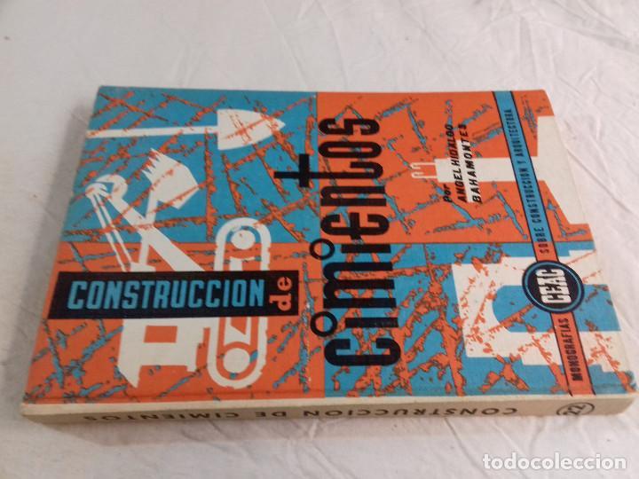 CONSTRUCCION DE CIMIENTOS-ANGEL HIDALGO BAHAMONTES-Nº 22-MONOGRAFIAS CEAC-1963 (Libros de Segunda Mano - Bellas artes, ocio y coleccionismo - Arquitectura)