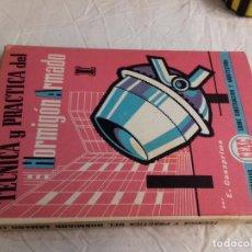 Libros de segunda mano: TECNICA Y PRACTICA DEL HORMIGON ARMADO (I)-E.CASAPRIMA-Nº 33-MONOGRAFIAS CEAC-1963. Lote 78528341