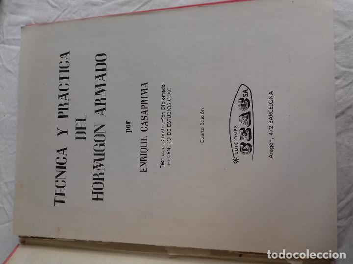 Libros de segunda mano: TECNICA Y PRACTICA DEL HORMIGON ARMADO (I)-E.CASAPRIMA-Nº 33-MONOGRAFIAS CEAC-1963 - Foto 2 - 78528341