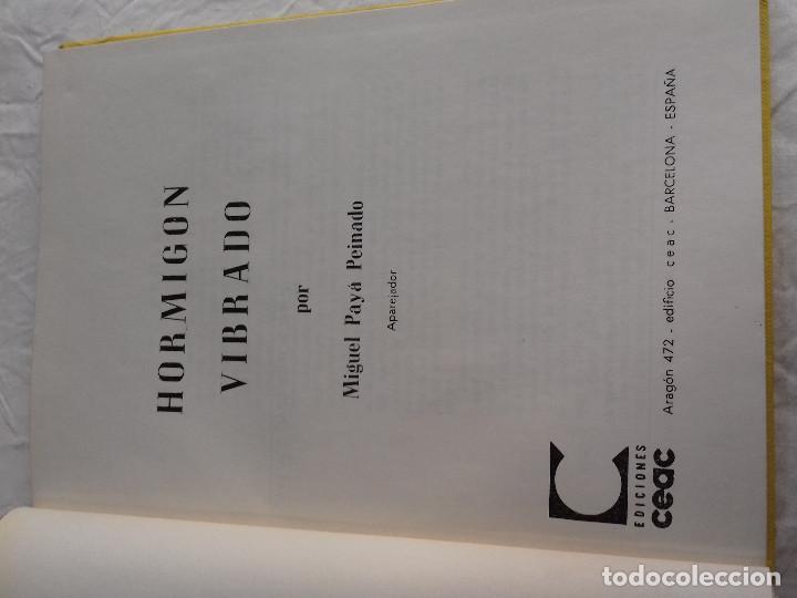 Libros de segunda mano: HORMIGON VIBRADO-HORMIGONES ESPECIALES-M.PAYA PEINADO-Nº 43-MONOGRAFIAS CEAC-1963 - Foto 2 - 78532841