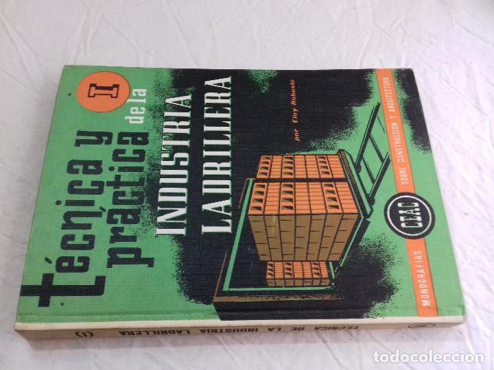 TECNICA Y PRACTICA DE LA INDUSTRIA LADRILLERA (I) -Nº 44-MONOGRAFIAS CEAC-1963 (Libros de Segunda Mano - Bellas artes, ocio y coleccionismo - Arquitectura)