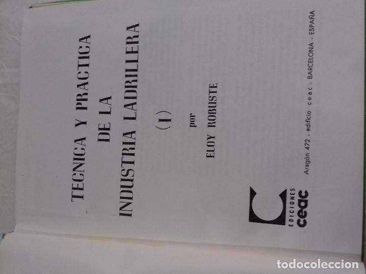 Libros de segunda mano: TECNICA Y PRACTICA DE LA INDUSTRIA LADRILLERA (I) -Nº 44-MONOGRAFIAS CEAC-1963 - Foto 2 - 78533177