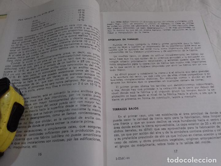 Libros de segunda mano: TECNICA Y PRACTICA DE LA INDUSTRIA LADRILLERA (I) -Nº 44-MONOGRAFIAS CEAC-1963 - Foto 3 - 78533177