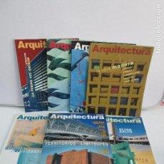 Libros de segunda mano: ARQUITECTURA. COAM. REVISTAS NUM: 313/314/315/316/317/318/319. VER FOTOGRAFIAS ADJUNTAS. Lote 80490473