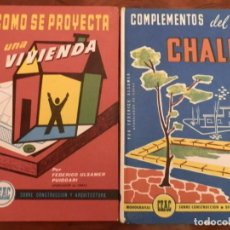 Libros de segunda mano: LOTE DE 38 TITULOS CEAC,CONSTRUCCION Y ARQUITECTURA, AÑOS 60-70 CORRECTA CONSERVACION,VER DETALLE. Lote 81753536
