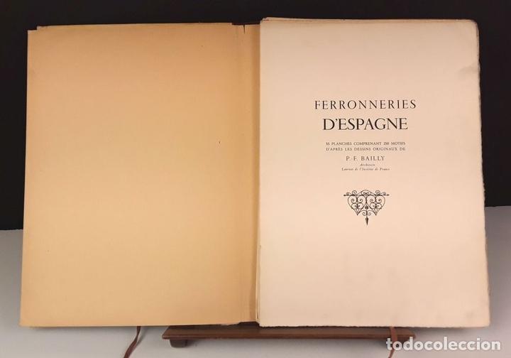 Libros de segunda mano: FERRONNERIES DESPAGNE. EJEMPLAR Nº 586. P. F. BAILLY. EDIT. DE LA CIGOGNE. 1952. - Foto 4 - 84017428