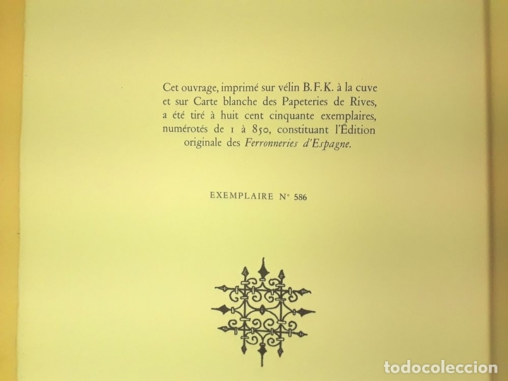 Libros de segunda mano: FERRONNERIES DESPAGNE. EJEMPLAR Nº 586. P. F. BAILLY. EDIT. DE LA CIGOGNE. 1952. - Foto 5 - 84017428