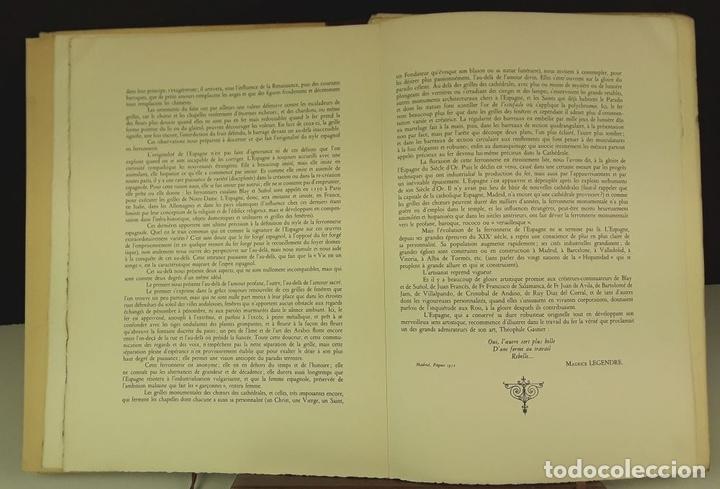 Libros de segunda mano: FERRONNERIES DESPAGNE. EJEMPLAR Nº 586. P. F. BAILLY. EDIT. DE LA CIGOGNE. 1952. - Foto 6 - 84017428