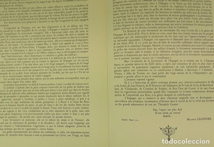 Libros de segunda mano: FERRONNERIES DESPAGNE. EJEMPLAR Nº 586. P. F. BAILLY. EDIT. DE LA CIGOGNE. 1952. - Foto 7 - 84017428