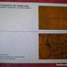 Libros de segunda mano: CARTOGRAFÍA DE PAMPLONA. DELEGACIÓN NAVARRA COLEGIO OFICIAL DE ARQUITECTOS VASCO-NAVARRO. Lote 84495432