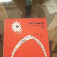 Libros de segunda mano: REVISTA, INFORMES DE LA CONSTRUCCIÓN, REVISTAS ARQUITECTURA, CONSTRUCCIÓN, CATÁLOGO, AÑOS 50,AÑOS 60. Lote 86035624