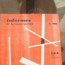 Libros de segunda mano: REVISTA, INFORMES DE LA CONSTRUCCIÓN, REVISTAS ARQUITECTURA, CONSTRUCCIÓN, CATÁLOGO, AÑOS 50,AÑOS 60. Lote 86035804