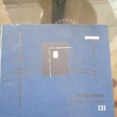 Libros de segunda mano: REVISTA, INFORMES DE LA CONSTRUCCIÓN, REVISTAS ARQUITECTURA, CONSTRUCCIÓN, CATÁLOGO, AÑOS 50,AÑOS 60. Lote 86036288