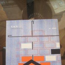 Libros de segunda mano: REVISTA, INFORMES DE LA CONSTRUCCIÓN, REVISTAS ARQUITECTURA, CONSTRUCCIÓN, CATÁLOGO, AÑOS 50,AÑOS 60. Lote 86036752
