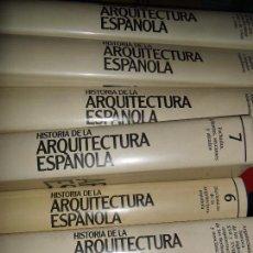 Libros de segunda mano: HISTORIA DE LA ARQUITECTURA ESPAÑOLA, 7 TOMOS, VVAA, ED. PLANETA. Lote 86368444