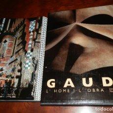 Libros de segunda mano: GAUDÍ, L´HOME I L´OBRA.1999,JOAN BERGÓS-MARC LLIMARGAS.GUAFLEX,SOBRECUBIERTA,ESTUCHE.309PP COUCHE. Lote 86962760