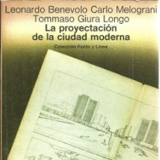 Libros de segunda mano: LA PROYECTACIÓN DE LA CIUDAD MODERNA - CARLO MELOGRANI Y GIURA LONGO - ED. GUSTAVO GILI - 1978. Lote 87440932