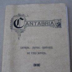 Libros de segunda mano: CANTABRIA - LETRAS - ARTES - HISTORIA. SU VIDA ACTUAL. EDICION FACSIMIL.. Lote 89779624