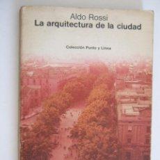Libros de segunda mano: LA ARQUITECTURA DE LA CIUDAD - ALDO ROSSI - GUSTAVO GILI 1976 - RUSTICA 239 PAGINAS. Lote 206763856
