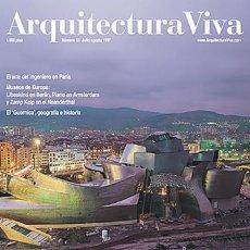 Libros de segunda mano: ARQUITECTURA VIVA 55 GUGGENHEIM BILBAO FRANK GEHRY, UN MUSEO AMERICANO Y VASCO VII-VIII 1997. Lote 130821275