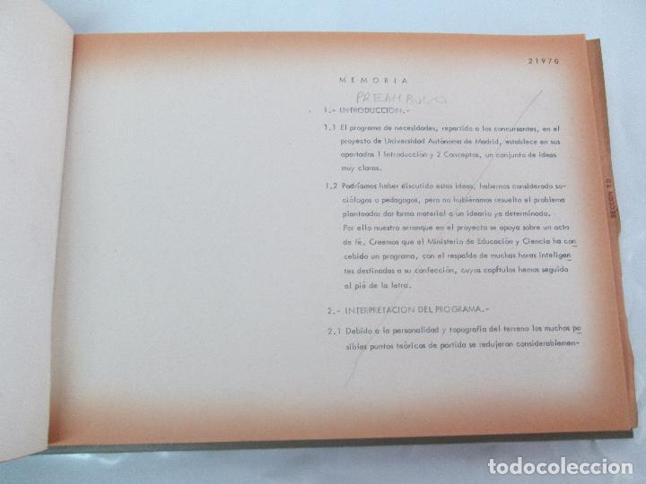 Libros de segunda mano: MEMORIA UNIVERSIDAD AUTONOMA DE MADRID. 21970. ARQUITECTURA PLANOS. VER FOTOGRAFIAS ADJUNTAS - Foto 10 - 95870379