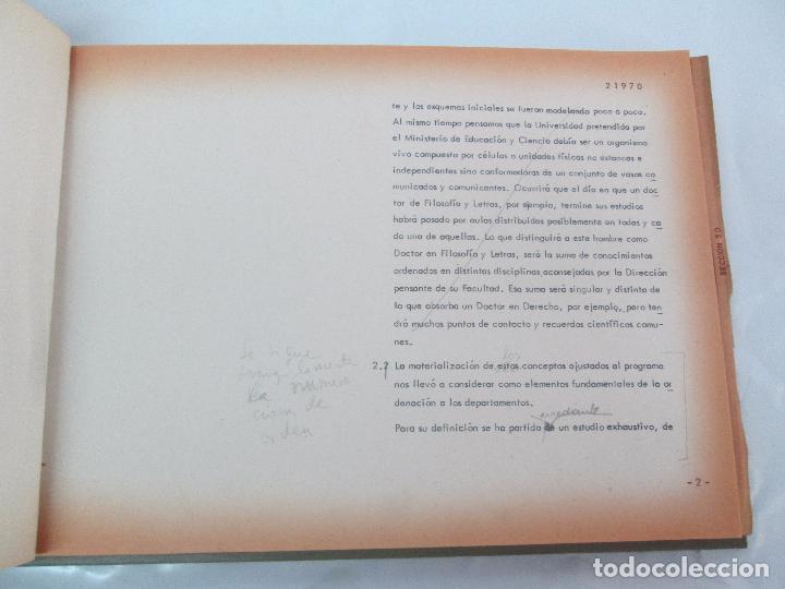 Libros de segunda mano: MEMORIA UNIVERSIDAD AUTONOMA DE MADRID. 21970. ARQUITECTURA PLANOS. VER FOTOGRAFIAS ADJUNTAS - Foto 11 - 95870379