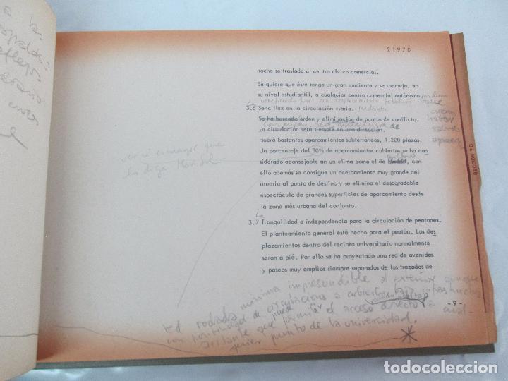 Libros de segunda mano: MEMORIA UNIVERSIDAD AUTONOMA DE MADRID. 21970. ARQUITECTURA PLANOS. VER FOTOGRAFIAS ADJUNTAS - Foto 12 - 95870379