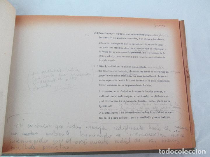 Libros de segunda mano: MEMORIA UNIVERSIDAD AUTONOMA DE MADRID. 21970. ARQUITECTURA PLANOS. VER FOTOGRAFIAS ADJUNTAS - Foto 13 - 95870379