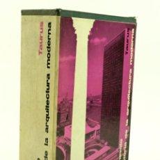 Libros de segunda mano: HISTORIA DE LA ARQUITECTURA MODERNA, L. BENEVOLO, 1963, ED. TAURUS. 17,5X25,5CM. Lote 99584803