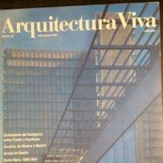 Libros de segunda mano: ARQUITECTURA VIVA 37 1994 FRANCIA EN FORMAS FOSTER SIZA GEHRY. Lote 101194467