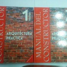 Libros de segunda mano: MANUAL DEL CONSTRUCTOR ARQUITECTURA PRÁCTICA 1 TÉCNICAS Y PROYECTOS 2 INSTALACIONES 1999 DALY. Lote 103503999