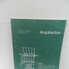 Libros de segunda mano: ARQUITECTOS N 109 REVISTA DEL CSCAE ARQUITECTURA. Lote 105136251