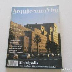 Libros de segunda mano: VV.AA. ARQUITECTURA VIVA. Nº 35. METRÓPOLIS. RMT84935. . Lote 105905343