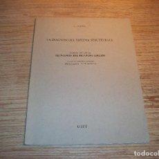 Libros de segunda mano: LA DIAGNOSI DEL SISTEMA STRUTTURALE . L . JURINA .UTET .. Lote 108776739
