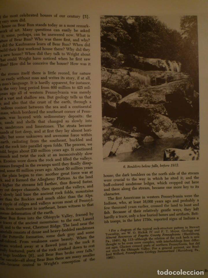 Libros de segunda mano: FRANK LLOYD. FALLINGWATER. THE HOUSE AND ITS HISTORY. DOVER PUBLICATIONS. NUEVA YORK. 1978 - Foto 9 - 109198595